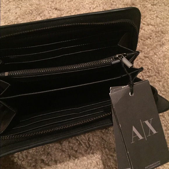 NWT Black Armani Exchange Wallet 7daade041223e